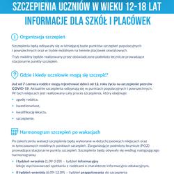 Pismo Mazowieckiego Wicekuratora Oświaty w sprawie szczepień